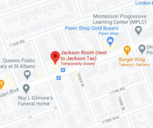 Google maps location of the Jackson Room